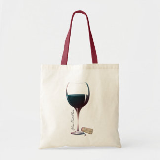 Logo personnalisé par art en verre de vin sac en toile