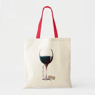 Logo personnalisé par art en verre de vin sac en toile budget