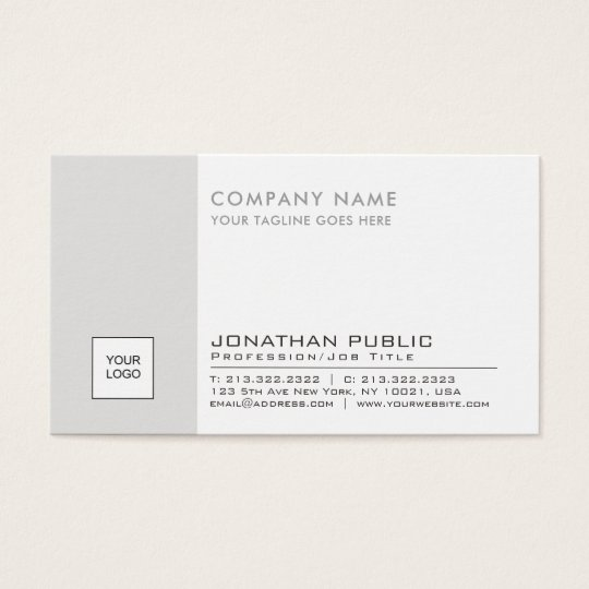 Logo Plain Corporate Modern Professional Elegant Business Card