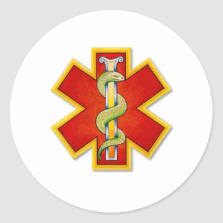 logo Red - Gold ornate Classic Round Sticker