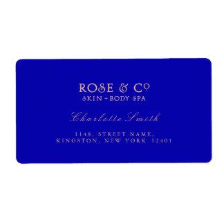 Logo Sapphire Pink Rose Gold Return Address Labels