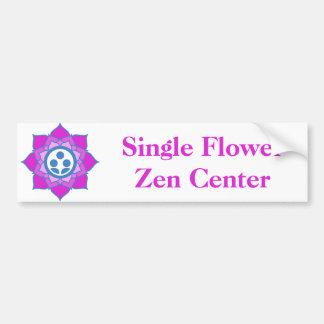 Logo simple de centre de zen de fleur autocollant de voiture