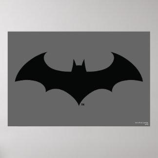Logo simple de silhouette de batte du symbole | de poster
