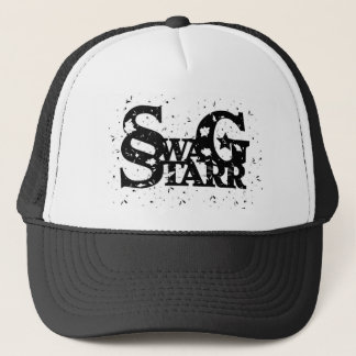 Logo Splattered Paint Hat White/Black