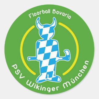 logo_sticker_gruen classic round sticker