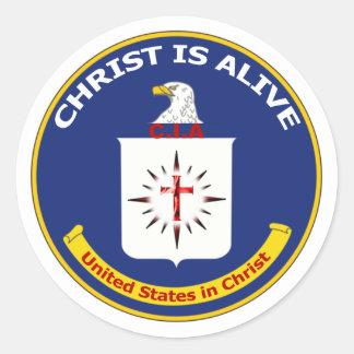 Logo the CIA Classic Round Sticker