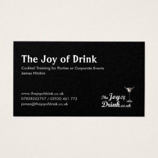 logo, The Joy of Drink, Cocktail Training for P... Business Card