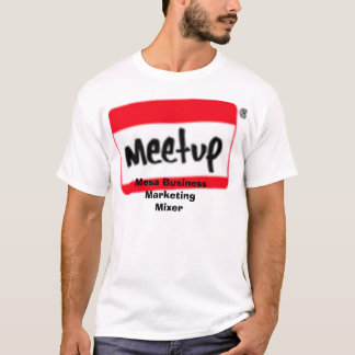 logo_tilt_small_1, Mesa Business Marketing Mixer T-Shirt