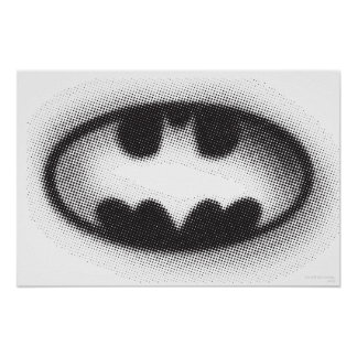 Logo tramé du symbole   de Batman Poster