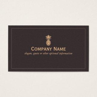 Logo tropical élégant d'ananas cartes de visite