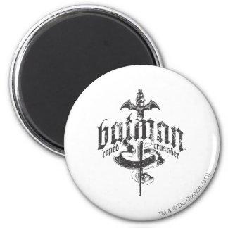 Logo urbain d'épée de légendes de Batman   Magnet Rond 8 Cm