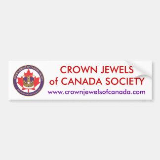 logo-url.ai, CROWN JEWELSof CANADA SOCIETY, www... Bumper Sticker