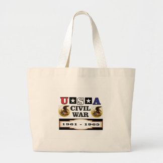 logo usa civil war large tote bag