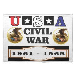 logo usa civil war placemat