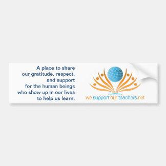 Logo--WeSupportOurTeachers.net Autocollant De Voiture