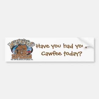 logo_white_full_thecawfeeshack, Ha... - Customized Bumper Sticker