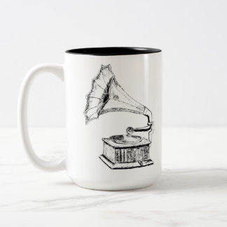 Logo (white) Two-Tone coffee mug