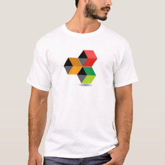 Logo with colorful cubes and shadow T-Shirt