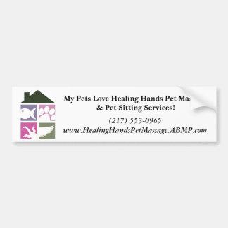 LogoColorNoText, My Pets Love Healing Hands Pet... Bumper Sticker