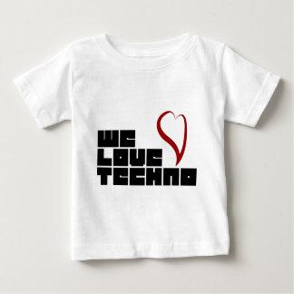 Logotipo-We-Love-Techno Baby T-Shirt