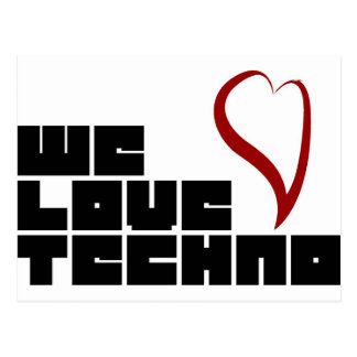 Logotipo-We-Love-Techno Postcard