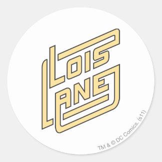 Lois Lane Logo Round Sticker