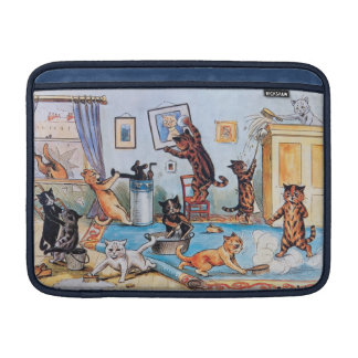 Lois Wain - Funny Cats Spring Cleaning MacBook Air Sleeve