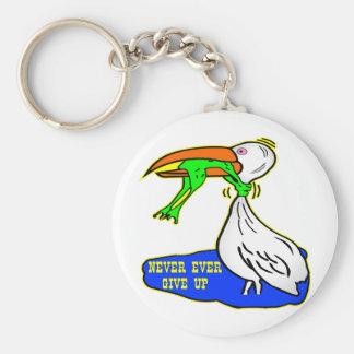 L'oiseau d'obstruction de grenouille abandonnent j porte-clé