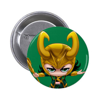 Loki Stylized Art 2 Inch Round Button
