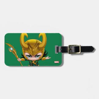 Loki Stylized Art Bag Tag