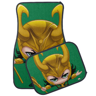 Loki Stylized Art Car Mat