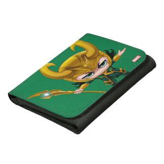 Loki Stylized Art Leather Tri-fold Wallet