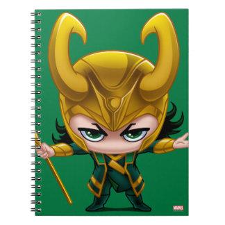 Loki Stylized Art Spiral Notebook