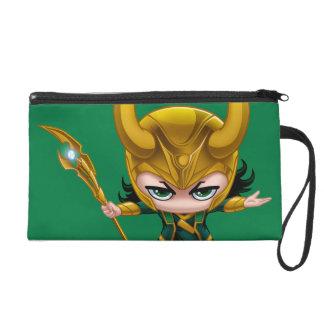 Loki Stylized Art Wristlet Purse