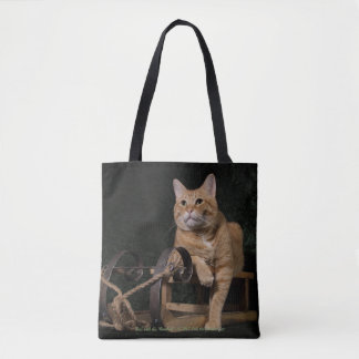 "Loki with his ""Rosebud"" Tote Bag"