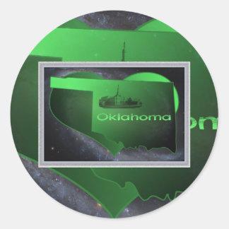 L'Oklahoma à la maison, l'Oklahoma à la maison Sticker Rond