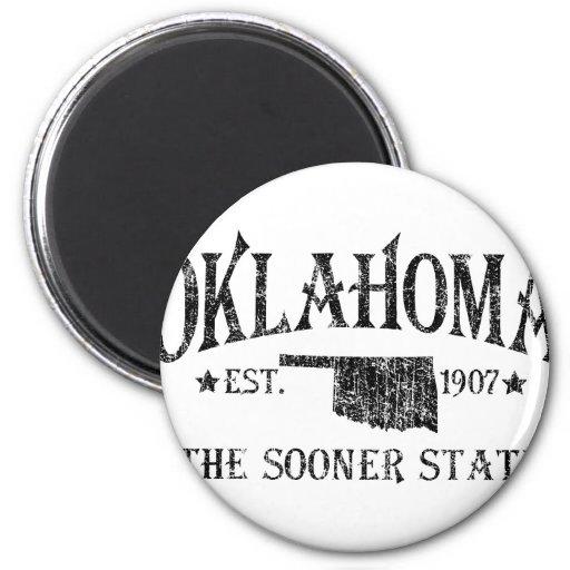 L'Oklahoma - plus tôt l'état Magnets Pour Réfrigérateur