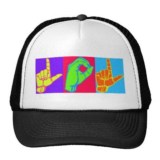 LOL ASL Sign Language Design Hat