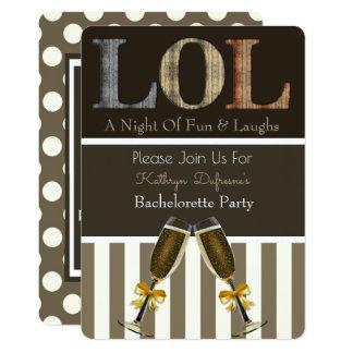 """""""LOL"""" Bachelorette Party Invitation"""