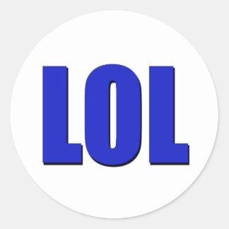 LOL blue Classic Round Sticker