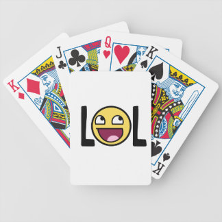 LOL cartoon, funn design Bicycle Playing Cards