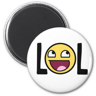 LOL cartoon, funn design Magnet