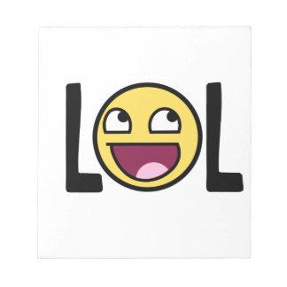 LOL cartoon, funn design Notepads