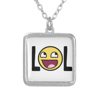 LOL cartoon, funn design Silver Plated Necklace