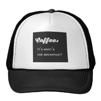 Lol Coffeeholic Typography Coffee for Breakfast Trucker Hat