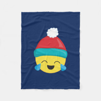 LOL Emoji Blue Winter Fleece Blanket