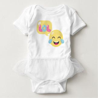 LOL emoji bubble Baby Bodysuit