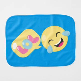LOL emoji bubble Burp Cloth