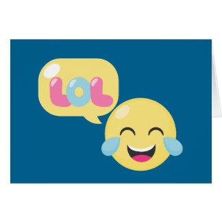 LOL Emoji Bubble Card