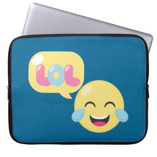 LOL Emoji Bubble Laptop Sleeve